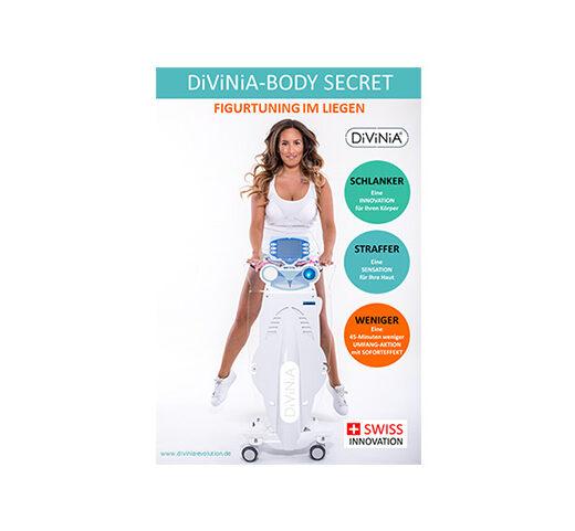 DiViNiA Figurtuning im Liegen, Frau mit DiViNiA, DiViNiA BIA-Körperanalyse, DiViNiA Behandlung